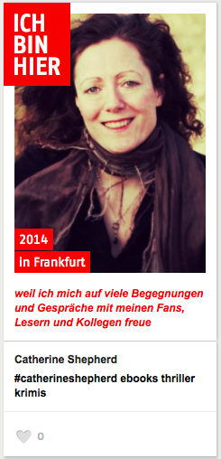 Catherine Shepherd auf der Frankfurter Buchmesse 2014