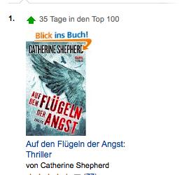 """Jetzt doch noch:  """"Auf den Flügeln der Angst"""" ist auf #1 der Amazon Kindle-Charts"""